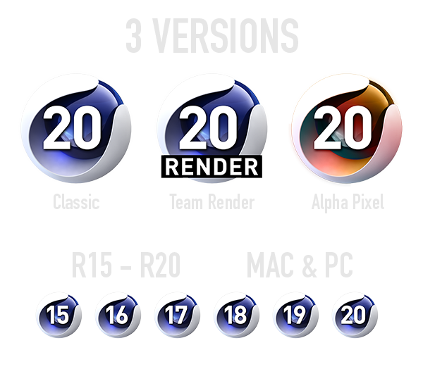 C4D Icon Pack R20 And Below – Alpha Pixel