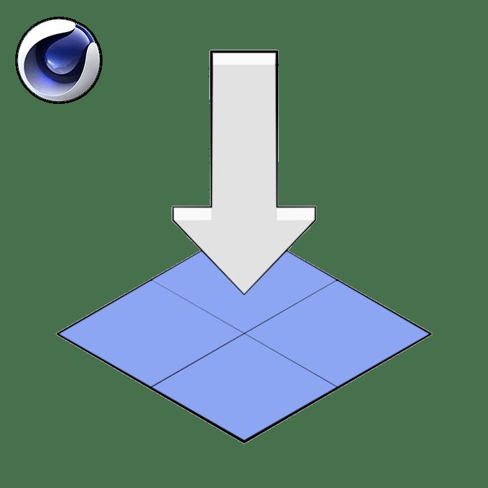 Snap To Floor 1.3 Generator Plugin For Cinema 4D by Merk
