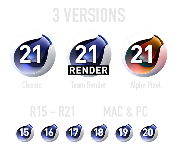C4D Icon Pack R21 And Below – Alpha Pixel